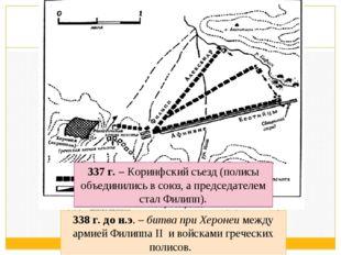 338 г. до н.э. – битва при Херонеи между армией Филиппа II и войсками греческ
