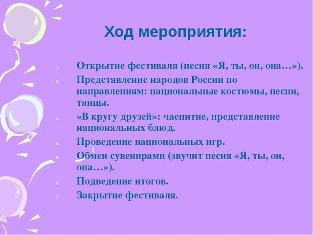 Открытие фестиваля (песня «Я, ты, он, она…»). Представление народов России по...