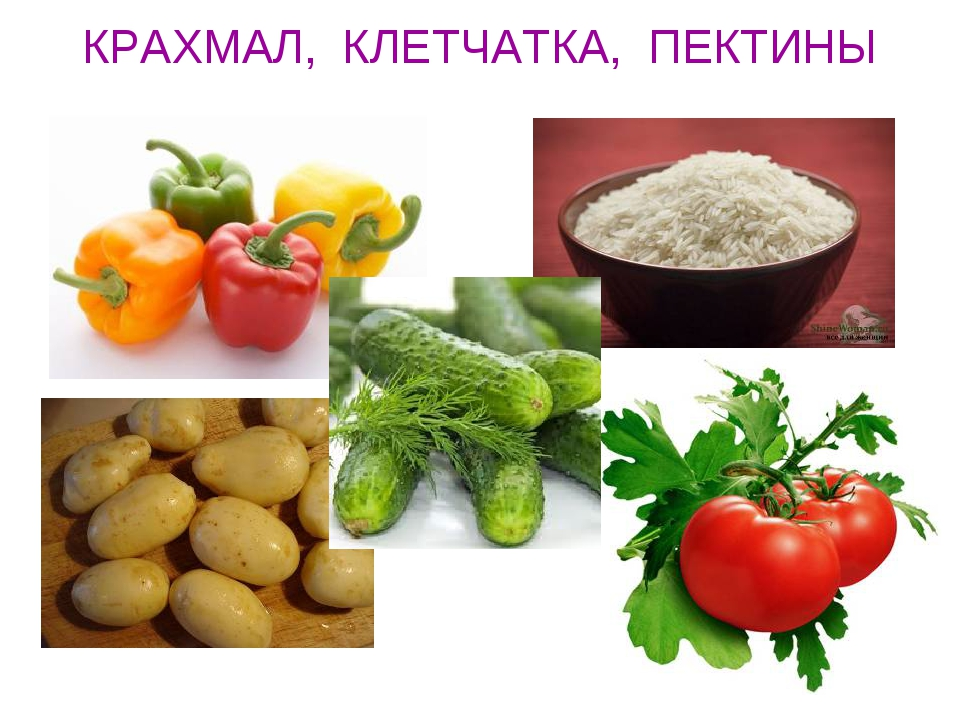 КРАХМАЛ, КЛЕТЧАТКА, ПЕКТИНЫ
