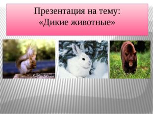 Презентация на тему: «Дикие животные»