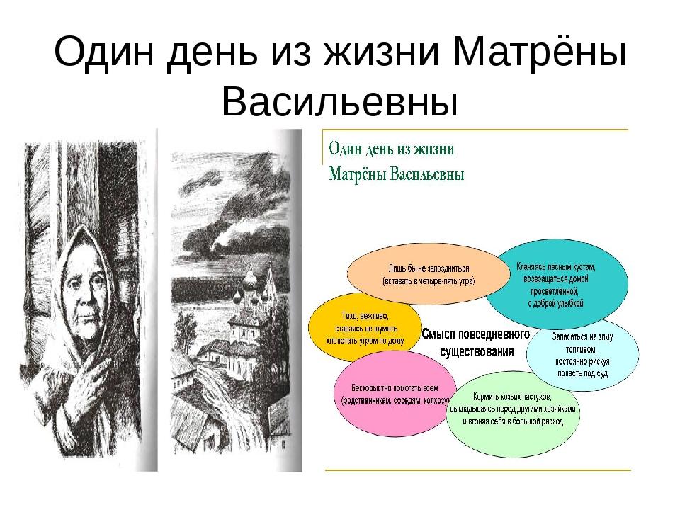 Один день из жизни Матрёны Васильевны
