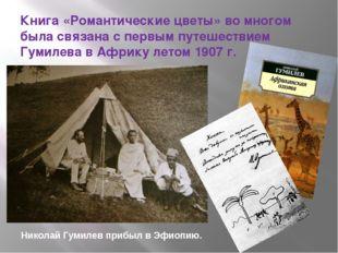 Книга «Романтические цветы» во многом была связана с первым путешествием Гуми