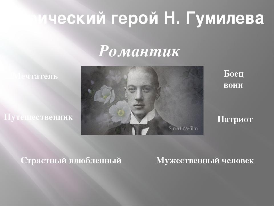 Лирический герой Н. Гумилева Мечтатель Боец воин Путешественник Патриот Страс...