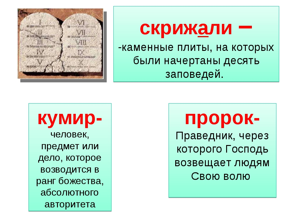 - скрижали – -каменные плиты, на которых были начертаны десять заповедей. на...