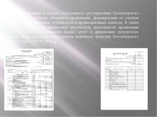 Четвертый уровень в системе нормативного регулирования бухгалтерского учета з