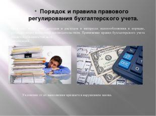Порядок и правила правового регулирования бухгалтерского учета. Граждане, ве