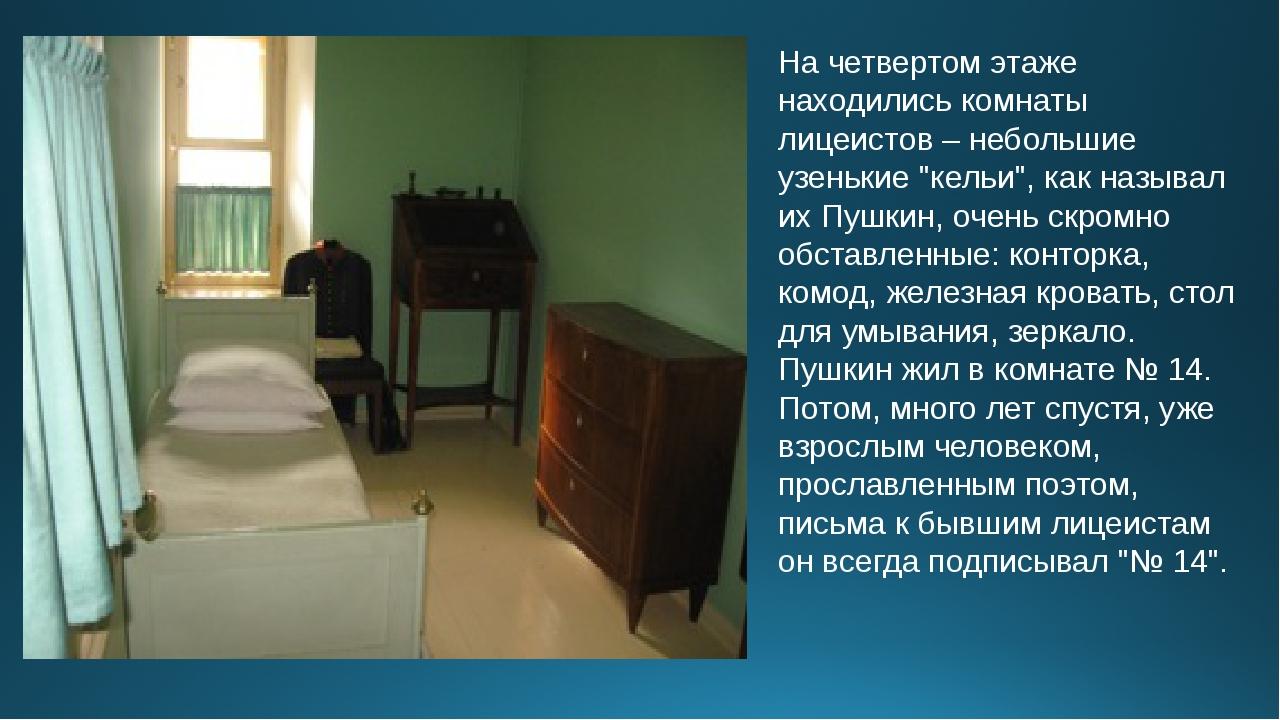 """На четвертом этаже находились комнаты лицеистов – небольшие узенькие """"кельи"""",..."""