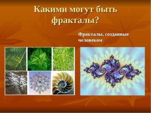 Какими могут быть фракталы? Природные фракталы Фракталы, созданные человеком
