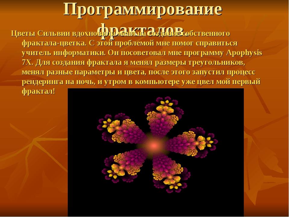 Программирование фракталов. Цветы Сильвии вдохновили меня на создание собстве...