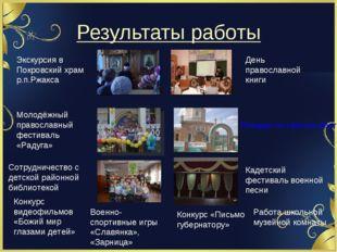 Результаты работы День православной книги Экскурсия в Покровский храм р.п.Ржа