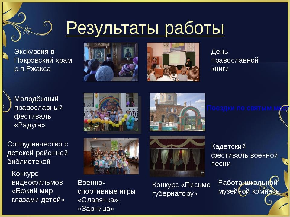 Результаты работы День православной книги Экскурсия в Покровский храм р.п.Ржа...
