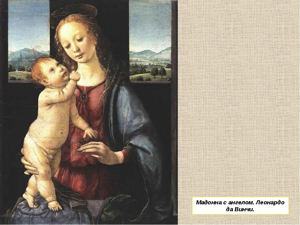Мадонна с ангелом. Леонардо да Винчи.