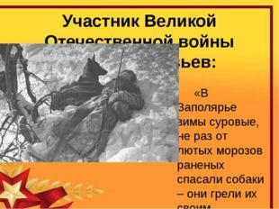 Участник Великой Отечественной войны Сергей Соловьев:  «В Заполярье зимы сур
