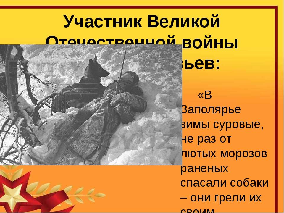 Участник Великой Отечественной войны Сергей Соловьев:  «В Заполярье зимы сур...
