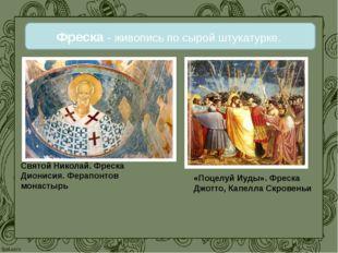 Фреска - живопись по сырой штукатурке. Святой Николай. Фреска Дионисия. Ферап