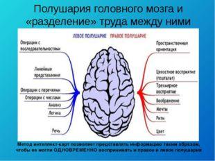 Метод интеллект-карт позволяет представлять информацию таким образом, чтобы е