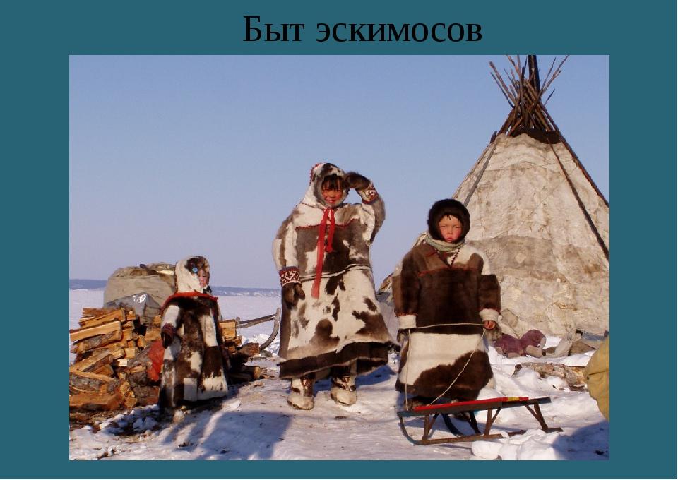Быт эскимосов