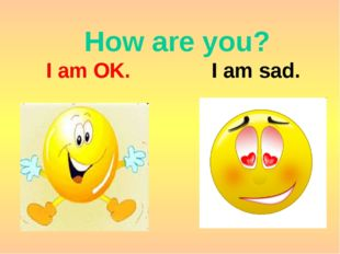 How are you? I am OK. I am sad.