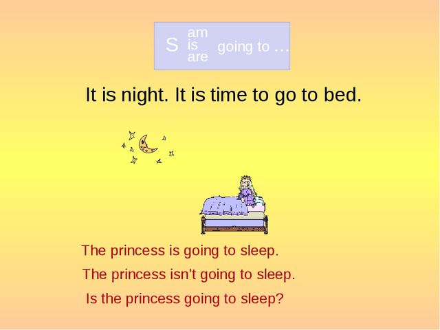 It is night. It is time to go to bed. The princess is going to sleep. The pri...