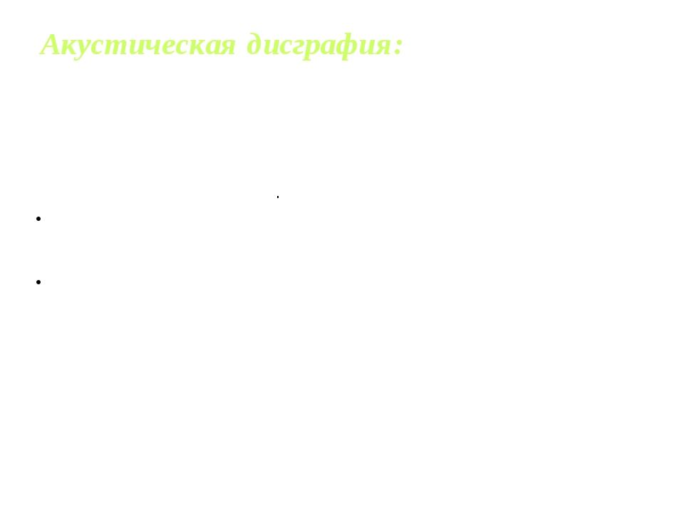 Акустическая дисграфия: Замены букв, обозначающих акустически сходные звуки ....