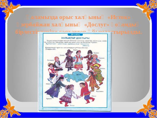 Қаламызда орыс халқының «Исток» әзербайжан халқының «Дослуг» қоғамдық бірлест...