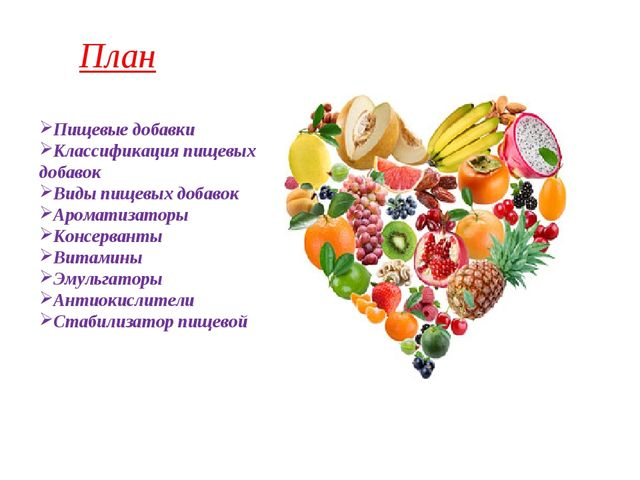 Пищевые добавки Классификация пищевых добавок Виды пищевых добавок Ароматизат...