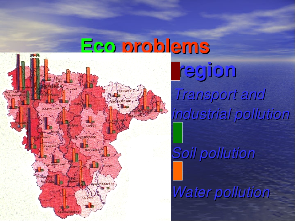 Eco problems in Voronezh region Transport and industrial pollution Soil pollu...