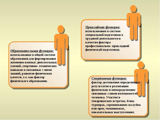 Образовательная функция: использование в общей системе образования для фор...