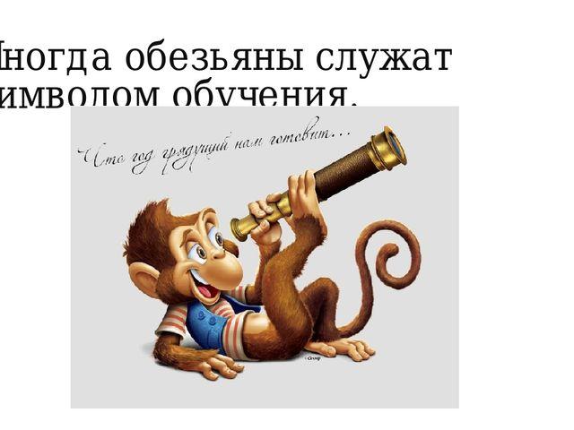Иногда обезьяны служат символом обучения.