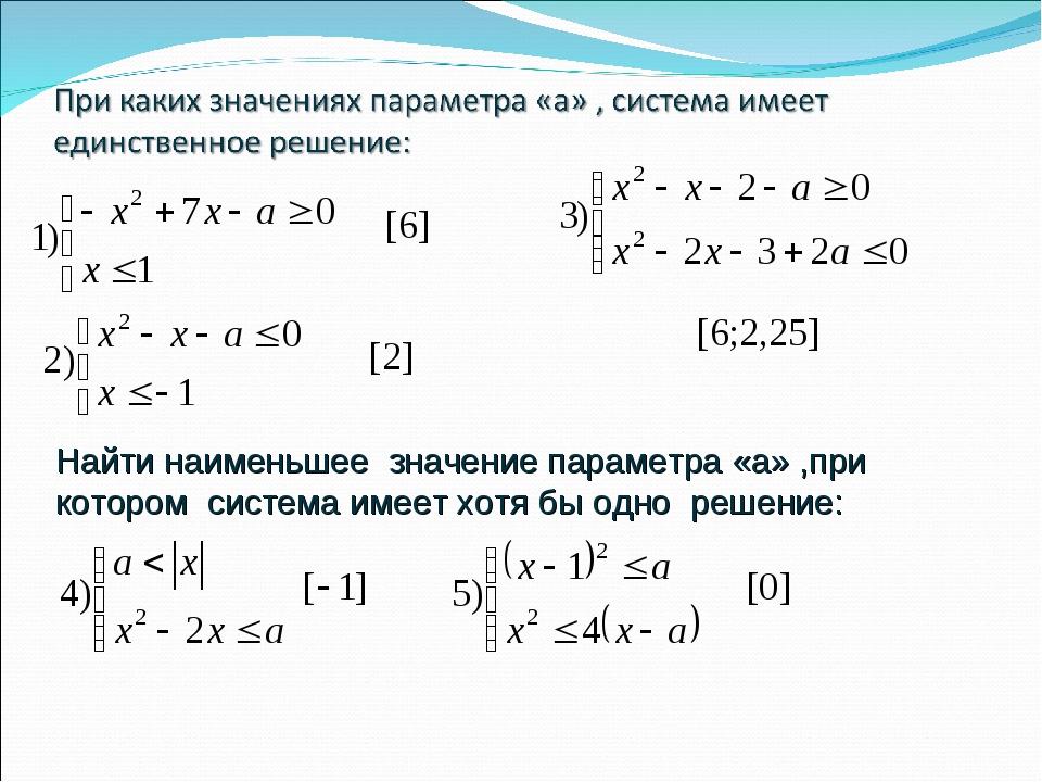Найти наименьшее значение параметра «а» ,при котором система имеет хотя бы од...