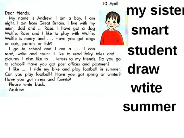 my sister smart student draw wtite summer