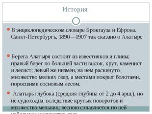 История В энциклопедическом словаре Брокгауза и Ефрона. Санкт-Петербургъ, 189
