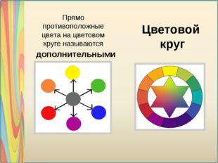 Прямо противоположные цвета на цветовом круге называются Цветовой круг допол