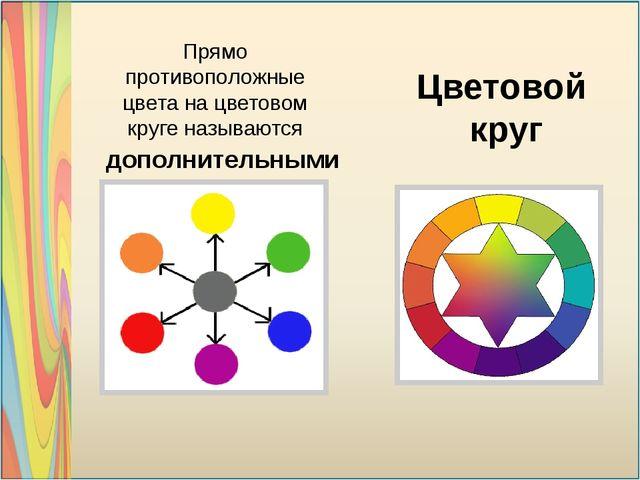 Прямо противоположные цвета на цветовом круге называются Цветовой круг допол...