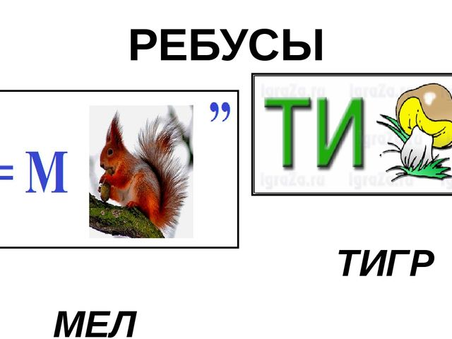 РЕБУСЫ ТИГР МЕЛ