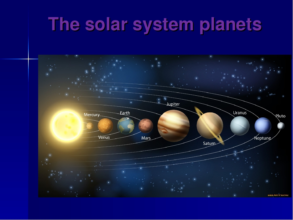 The solar system planets