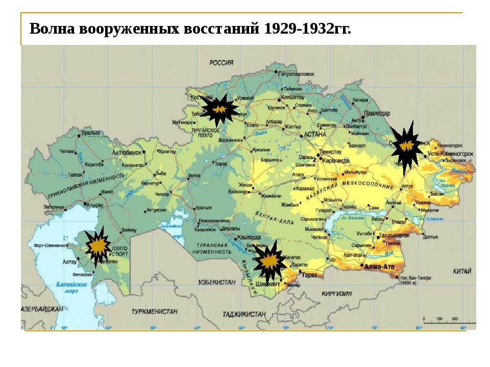 Волна вооруженных восстаний 1929-1932гг.