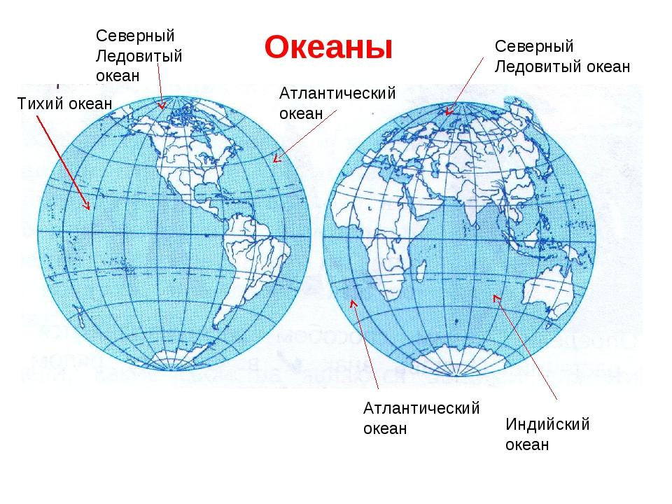 Тихий океан Северный Ледовитый океан Атлантический океан Северный Ледовитый о...