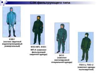 СЗК фильтрующего типа КЗВУ (костюм защитный водонепроницаемый универсальный)