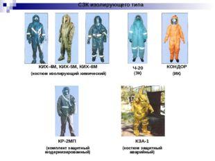 СЗК изолирующего типа КИХ-4М, КИХ-5М, КИХ-6М (костюм изолирующий химический)