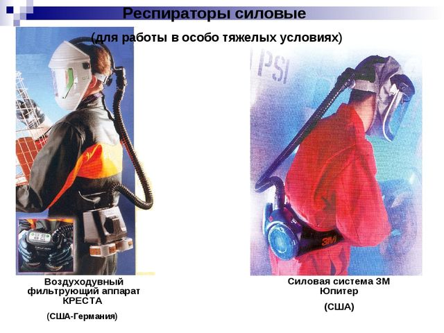 Воздуходувный фильтрующий аппарат КРЕСТА (США-Германия) Силовая система ЗМ Юп...