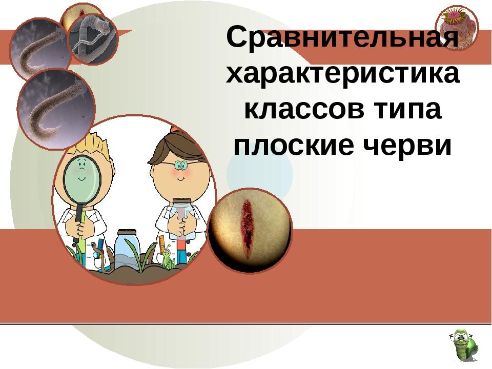 Сравнительная характеристика классов типа плоские черви