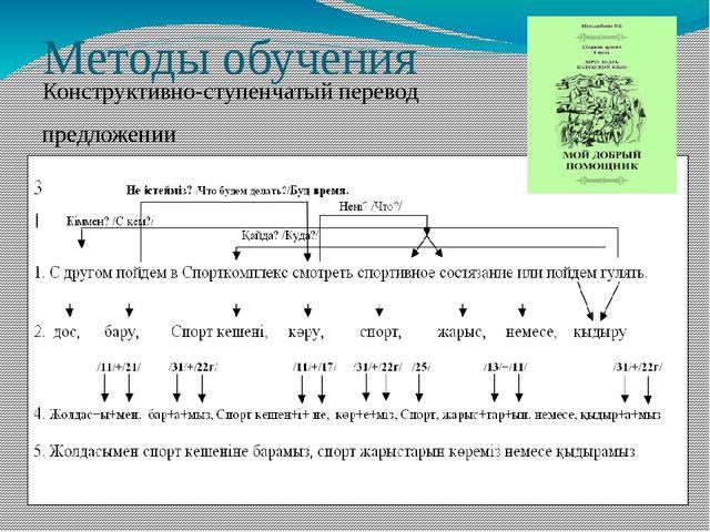 Методы обучения Конструктивно-ступенчатый перевод предложении