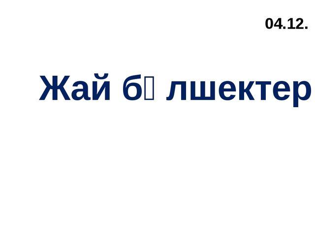 04.12. Жай бөлшектер.