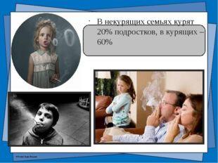 В некурящих семьях курят 20% подростков, в курящих – 60% © Фокина Лидия Петро