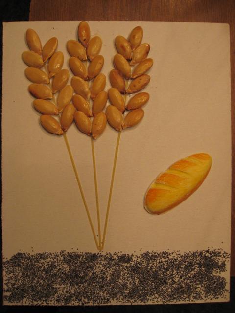 Поделка колосок пшеницы для детей 52