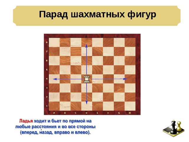 Парад шахматных фигур .