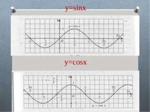 y=sinx y=cosx