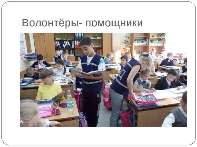 Волонтёры- помощники
