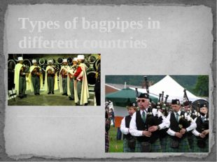 Types of bagpipes in different countries